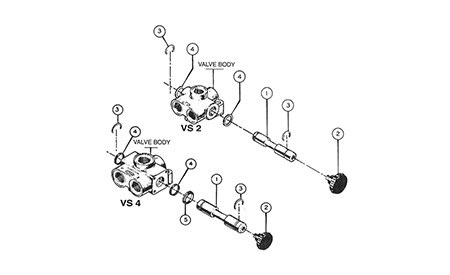 Valves Vs Vd Selector Parts Vs 2 Vs 4